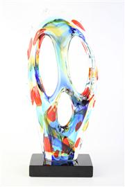 Sale 8818 - Lot 82 - Murano Signed Glass Sculpture on Base H:53cm (Possibly C.Santo)
