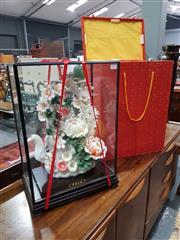 Sale 8889 - Lot 1015 - Chinese Cased Floral Arrangement