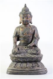 Sale 8902C - Lot 641 - An Early Cast Metal Figure of Shakyamuni H: 24cm