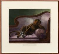 Sale 8934H - Lot 34 - After Alfred Lucas, Doing The Elegant, engraved by J Bateman, frame size 72cm x 79cm