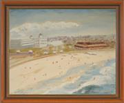 Sale 8978 - Lot 2052 - D. Faulkner Bondi Beach oil on canvas on board, 48 x 58cm (frame) signed frame) signed -