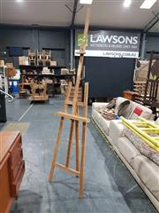 Sale 8984 - Lot 1095A - Timber Artists Easel Marked Studio Otaviani (H: 226cm)