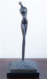 Sale 8800 - Lot 61 - A bronze of a female nude, on base, total height 35cm Engraved to base Bill A??? 11/08