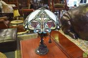 Sale 8390 - Lot 1310 - Leadlight Table Lamp