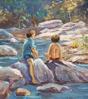 Sale 8675A - Lot 5072 - Shirley Furlonger - Summertime 21 x 19cm