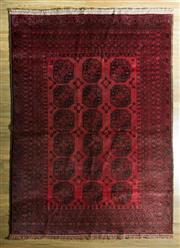 Sale 8700C - Lot 21 - Afghan Qunduzi 270cm x 196cm