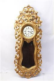 Sale 8710 - Lot 34 - Large Ornate Gilt Carved Clock