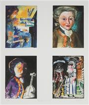 Sale 8781A - Lot 5011 - Charles Blackman (1928 -2018) - Mozart Suite 61 x 51cm sheet