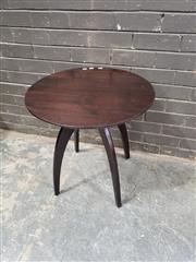 Sale 8984 - Lot 1035 - Modernist Timber Lamp Table (H:60 x D:60cm) -