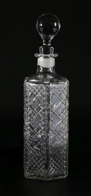 Sale 9003G - Lot 659 - Vintage DCL 100th Anniversary 1877-1977 Glass Decanter with mis-matched stopper (H23cm)