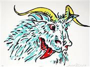 Sale 9042A - Lot 5077 - Adam Cullen (1965 - 2012) - Goat, 2010 60 x 90 cm (frame: 75 x 94 x 3 cm)