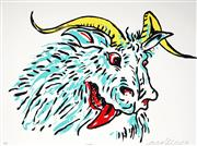 Sale 9021 - Lot 529 - Adam Cullen (1965 - 2012) - Goat 60 x 90 cm (frame: 75 x 94 x 3 cm)