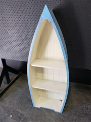 Sale 9026 - Lot 1060 - Timber Boat Form Bookshelf (H94cm)