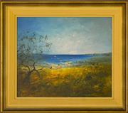 Sale 9080J - Lot 4 - David Boyd - Kids at the Beach 55x65cm