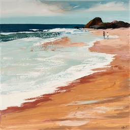 Sale 9096A - Lot 5014 - Cheryl Cusick - Ocean Walk 91.5 x 91.5 cm