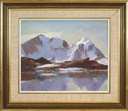 Sale 8443 - Lot 520 - Rubery Bennett (1893 - 1987) - An Alpine Lake, Switzerland 37 x 44.5cm