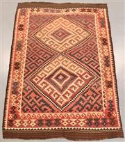 Sale 8438K - Lot 26 - Genuine Vintage Tribal Afghan Kilim Rug | 289x208cn, Pure Wool, Soft and colour mature genuine vintage Afghan Kyber Mori kilim handw...