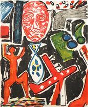 Sale 8738 - Lot 507 - Graham Fransella (1950 - ) - Large Face, 1985 87 x 72.5 cm