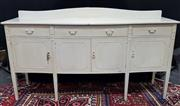 Sale 8971 - Lot 1018 - A French Taste White Sideboard with four doors & drawers (H:92 x W:190 x D:50cm)