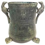 Sale 8292 - Lot 2 - Archaic Bronze Ware Vase