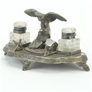 Sale 8372 - Lot 74 - James Dixon & Sons Silver Plated Desk Set