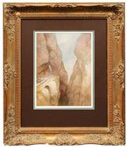 Sale 8716 - Lot 2077 - George Nicholson (1795 - 1843) - Devils Bridge, Schollenen Gorge Switzerland 33 x 23cm
