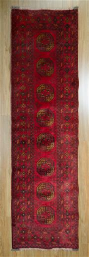Sale 8653C - Lot 14 - Afghan Qunduzi 293cm x 80cm