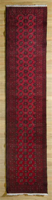 Sale 8680C - Lot 37 - Afghan Turkman Runner 380cm x 80cm