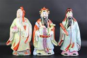 Sale 8823 - Lot 66 - A Set of 3 Ceramic Chinese Immortal Figures ( H 30cm)
