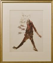 Sale 9080J - Lot 6 - Sidney Nolan - Abstract Figure 61x50cm
