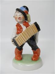 Sale 8402B - Lot 9 - Herend Accordion Player Figurine, Hungary