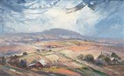 Sale 8443 - Lot 582 - Herbert Carstens (1904 - 1978) - Storm Over the Darling Downs 34 x 54cm