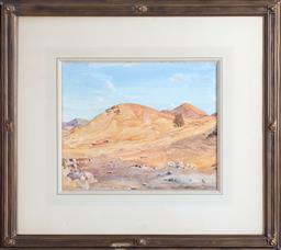 Sale 8871H - Lot 144 - Hans Heysen - Sunparched Hills, Flinders Rangers, 1930 32 x 40