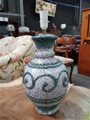 Sale 8593 - Lot 1061 - A 1960s Style Rinascimento Grey & Green Hand Painted Table Lamp Base (VINT13)