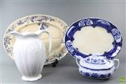 Sale 8599 - Lot 44 - Bathing Jug, Tureen And Large Ceramic Platters (AF)