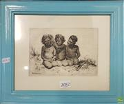Sale 8600 - Lot 2082 - B.E Minns Etching, Signed on Plate