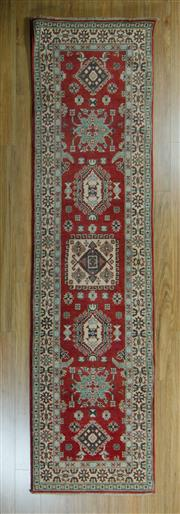Sale 8717C - Lot 44 - Afghan Kazak Runner 304cm x 78cm