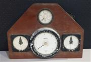 Sale 8976N - Lot 313 - Vintage Timber Framed Boat Dash with Fitted Meters (h:330 x w:460 x d:155mm)