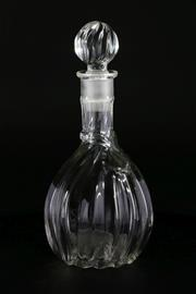 Sale 9003G - Lot 631 - Vintage Glass Perfume Bottle and Stopper, Fully marked to base (H21cm)