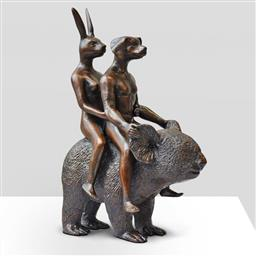 Sale 9154JM - Lot 5055 - GILLIE AND MARC They Loved Koalas bronze sculpture ed. 10/100 23 x 17 x 9.5 cm inscribed