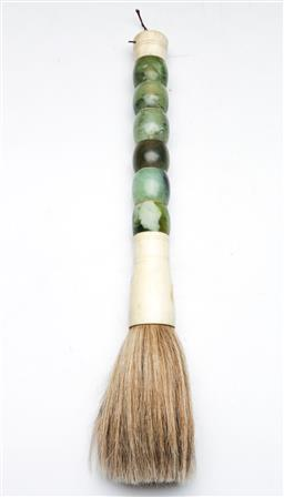 Sale 9144 - Lot 81 - A Chinese horse hair brush (L 40cm)