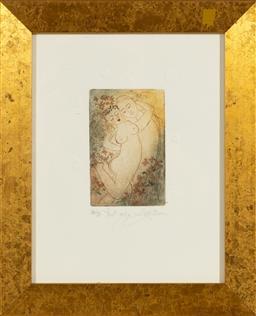 Sale 9155H - Lot 75 - LIthograph, The bride Var 66/100  Frame size 29.5x24cm