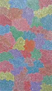 Sale 8288A - Lot 9 - Josie Petrick Kemarre (c1945 - ) - Bush Seed 151 x 89cm (framed & ready to hang)