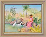 Sale 8325 - Lot 575 - Diana Crooke (1954 - ) - Hillside Creek, Late Afternoon (Cape York Peninsula) 45.5 x 60.5cm