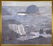 Sale 8316 - Lot 567 - Lawrence Daws (1927 - ) - Landscape with Monolith 137 x 157cm