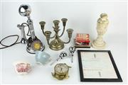 Sale 8403 - Lot 99 - G&C Candlestick Telephone with Other Wares incl 5-Branch Candelabra