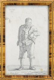 Sale 8575J - Lot 47 - European School (XIX) - Portrait Of A Man, 1828 14.5 x 9cm