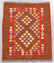 Sale 8438K - Lot 29 - Summer Afghan Tribal Kilim Rug | 101x85cm, Pure Wool, Finely handwoven in Northern Afghanistan using high quality local wool. Vibran...