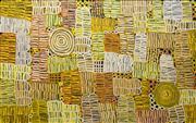 Sale 8633A - Lot 5020 - Betty Mbitjana (1955 - ) - Awelye 93 x 146cm (framed & ready to hang)