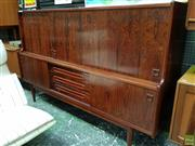 Sale 8566 - Lot 1086 - Rosewood High Back Sideboard (128 x 50 x 200)